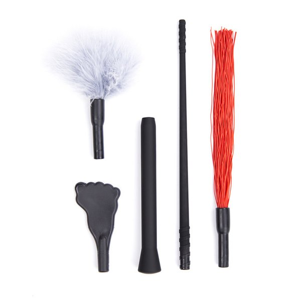 Adult game sex game toys Detachable assembly three in one toy Feather silicone whip foot set plastic feet