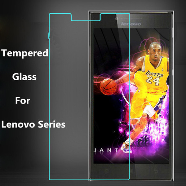 Wholesale- Tempered Glass Film For Lenovo A319 A328 A8 A536 A606 A806 916 A2010 S60 S60t K50-T5 Lemon 3 K900 Vibe Shot Z90 Vibe X2 Vibe P1m