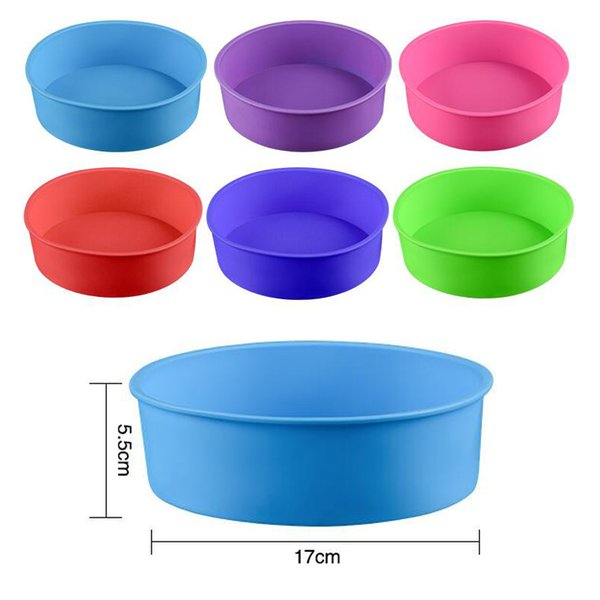 Round Shape Silicone Cake Maker Mold Sala Pan - DlY Baking Mould Tools For Bakeware (Random Color)