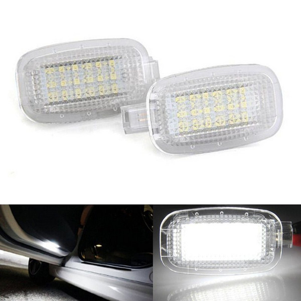 2x Error Free 18 LED Courtesy Door Light Auto Lamp Car Light Sources for Mercedes Benz W204 W216 W212 C207 X204 W221 R230 Smart