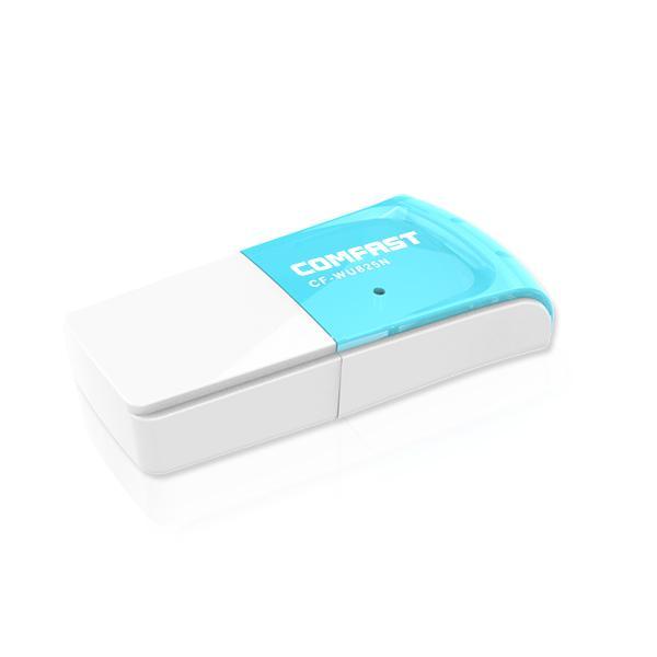 Wholesale- 10 PCS COMFAST CF-WU825N 300Mbps Mini Wireless-N USB WiFi Adapter 2dbi Antenna network lan cards RTL8192EU Wi Fi Receiver router