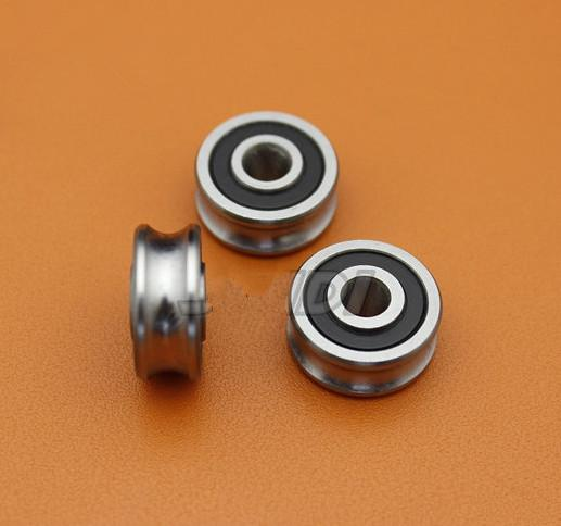 20pcs high quality SG20 U Groove pulley ball bearings 6*24*11 mm Track guide roller wheel bearing 6x24x11 (double row balls) ABEC-5