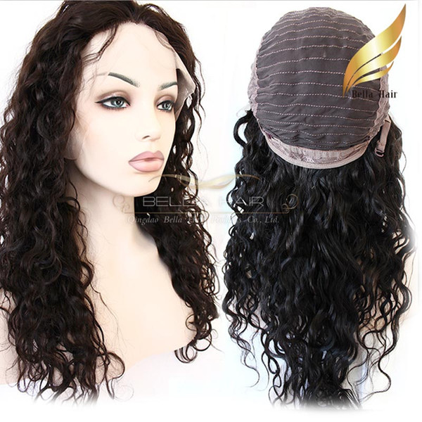 top popular Brazilian Human Hair Wigs For Black Women Curly Natural Color Human Hair Lace Front Wigs Bulk Wholesale Bellahair 2019