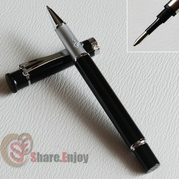 JINHAO Y3 GLOSS BLACK AND SILVER ROLLER BALL PEN EXECUTIVE
