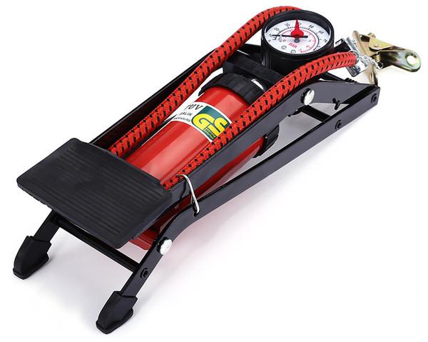 Pompa a pedale ad alta pressione per pompa di gonfiaggio pneumatici per auto Piede pieghevole per motocicli