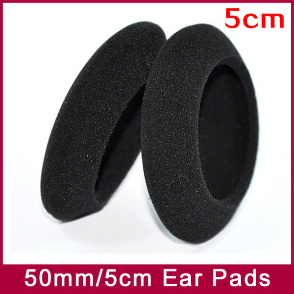 EarPads Foam Pad Sponge cushion cover Diameter 50mm 5cm for PP PX100 PX200 PX100II PX200II PX300 headphone earphones 3pairs/lot