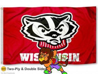 Университет штата Висконсин Барсуков баки флаг Ию большие 3х5