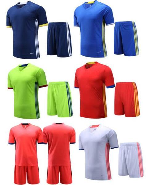Kundenspezifische Fußball-Team 2016 neue Fußball Trikots Sets, Großhandel Tops mit Shorts, Training Jersey Short, Custom Team Trikots, Fußball-Uniformen