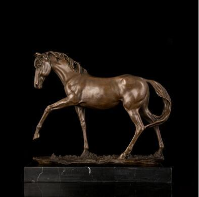 Vintage Sculpture ATLIE BRONZES Copper Brass crafts Asian bestselling Classical Quality Horse Statue Bronze sculptures figures horses full s
