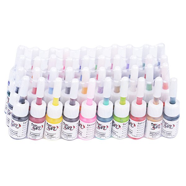 Wholesale- 2016 New Professional 40 Colors Permanent Makeup Tattoo Inks Pigment Set 5ml for Eyebrow Body Paint Make Up Kit Supplies Brazil