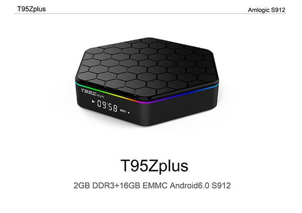 best selling T95Z PLUS Android 7.1 TV BOX S912 Octa Core 2G 16G 2.4G 5G WiFi Bluetooth TV BOX Media Player
