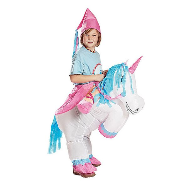 cosplay inflatable unicorn fancy dress kids adult horse riding costumes for halloween carnival dance party boys