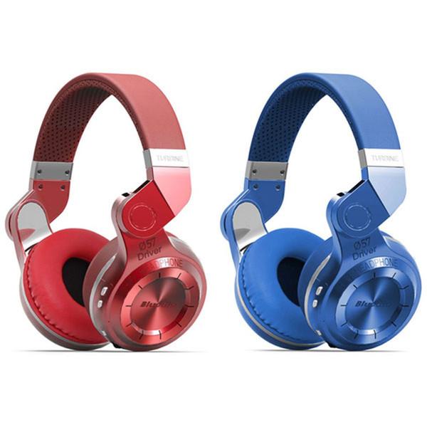 Wholesale-Blue dio T2 Kopfhörer Modischer Turbo Wireless Bluetooth 4.1 Stereo-Kopfhörer Faltbarer Stil Stirnband Headset mit Mikrofon