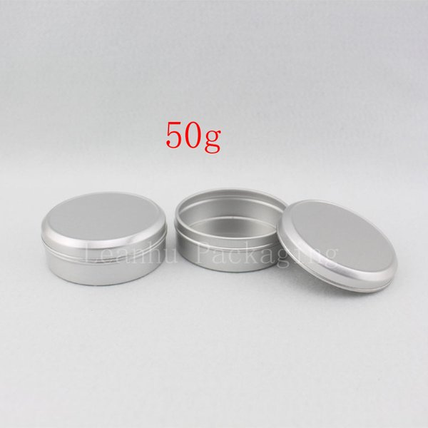 50g aluminum empty cosmetic container with lids, food storage aluminum container empty cream cosmetic packaging jar metal bottle