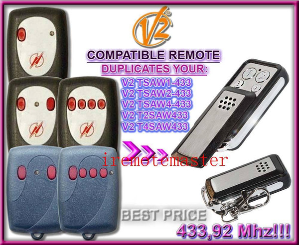 TSAW1/TSAW2/TSAW4/T2SAW/T4SAW remote control replacement 433,92MHZ