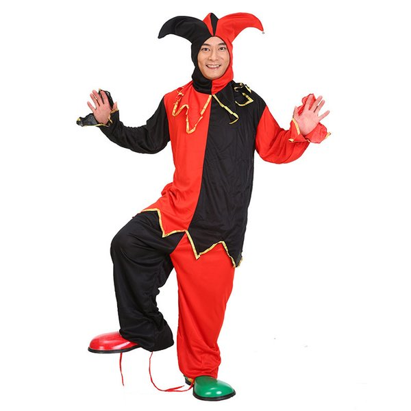 Kukucos Halloween Make-up Ball Cosplay Adult Clown Costume Magic Performance Suit Spirits Clothes