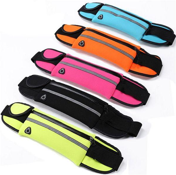 Tasche a marsupio in vita con tasche sportive impermeabili per iPhone 8 X 7 Plus Borse da corsa funzionali per Samsung con borsa per campioni
