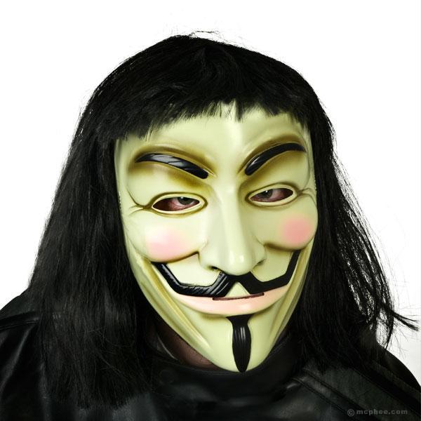 v for vendetta halloween costume for men black warrior costumes carnival cosplay masquerade clothes(hat + cloak + mask + wig)