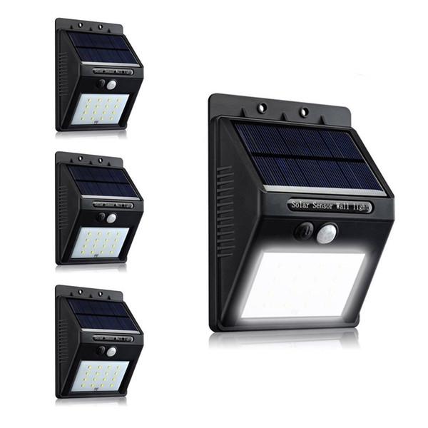 New arrival 16pcs led solar wall light garden flood lantern PIR motion sensor outdoor light 4 pack