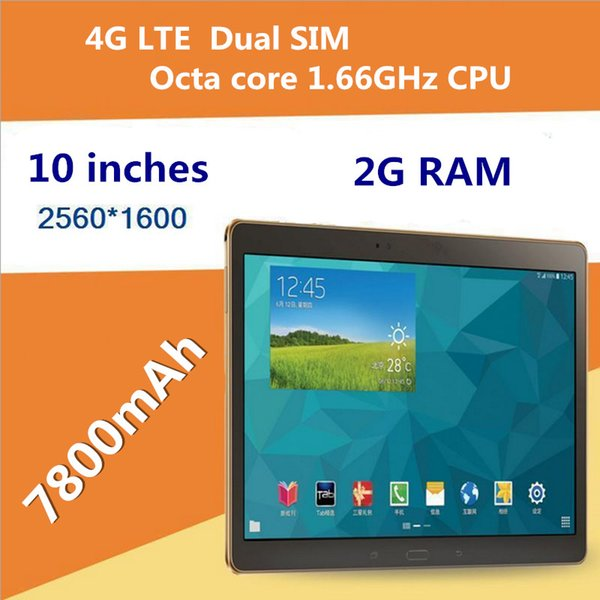 """4G LTE 10"""" tablet pc 10 inch Android 5.1 Octa core 1.66GHz tablets 2GB Ram 16GB Rom 7800mAh batter with Leather cover DHL Free"""