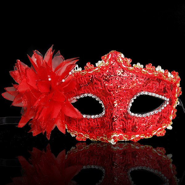 10pcs Children Lace Eye Mask Venetian Masquerade Halloween Ball Prom Costume Fancy Dress Dance Party 2 colors