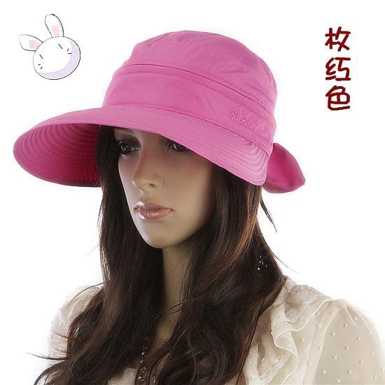 Großhandels-Sommer-Art- und Weisekoreanischer Art-Bowknot-große Visier-Kappen-Farben-zusammenpassender Strand Sun Hat