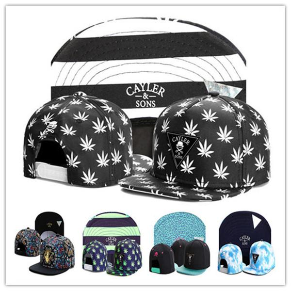 Cheap Cayler-sons Snapback Hats Metal logo Hip-hop Cap Hat Adjustable Hats Cap Baseball Cap Flat Brim