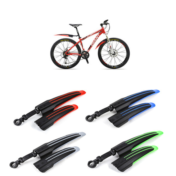 Rear  Folding  MTB Mud Guards Cycling Fender Bike Red Blue Black Front