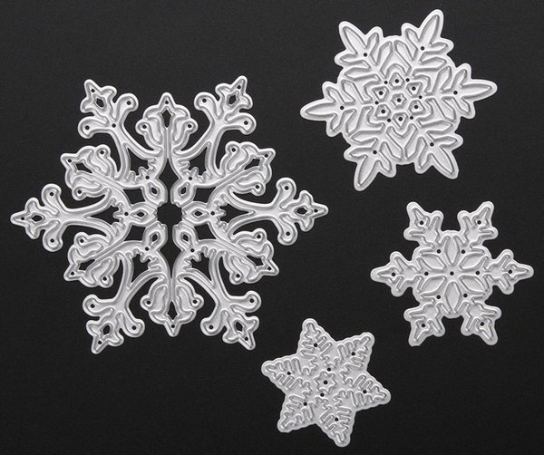 Free shipping Brand New 4pcs/set Metal Snowflake Christmas Cutting Dies Stencils for DIY Die Cut Stencil Decorative Scrapbooking Craft