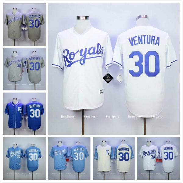 best website c8bf5 70f65 kansas city royals 30 yordano ventura white jersey