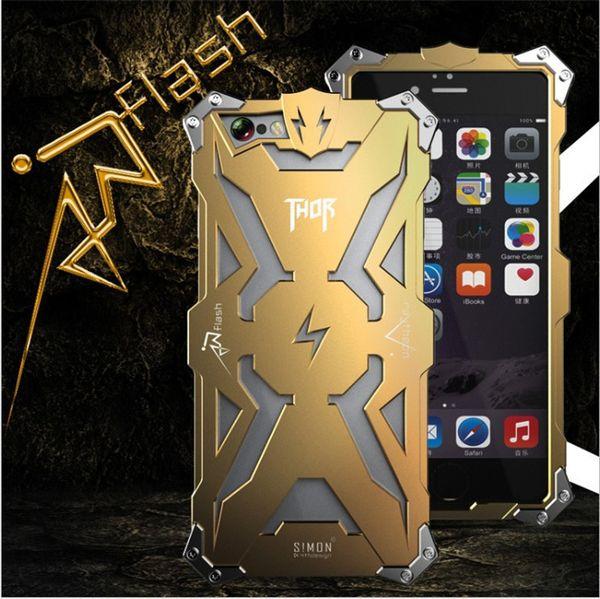 Per iphone7 7plus Simon Thor Iron Man Metallo Custodie in alluminio Punk Rock Style Transformers Robot Crash Proof Bumper Cover Case DHL SCA120