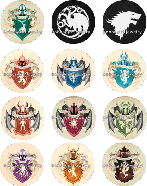 Free shipping GAME OF THRONES Snap button Jewelry Charm Popper for Snap Jewelry good quality 12pcs / lot Gl268 jewelry making DIY