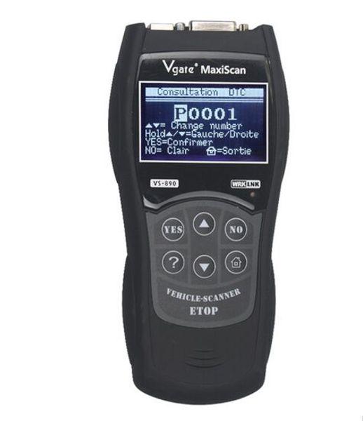 2016 VS890 OBD2 Lector de Código Universal VGATE VS890 OBD2 Escáner Herramienta de Diagnóstico en Varios Idiomas Vgate MaxiScan VS890