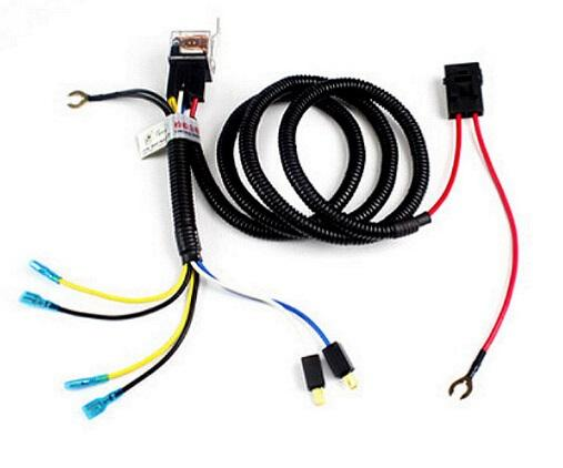 universal relay wiring harness kit for truck auto original facto auto  refitting auto horn wire car