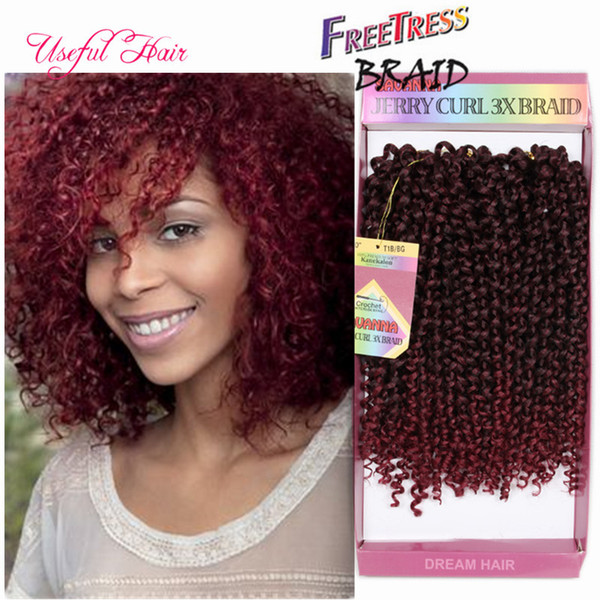 gifts synthetic braiding hair 3pcs/lot crochet braids hair pre looped savana jerry curly weave Hair Extensions Ombre Brazilian jumbo braids