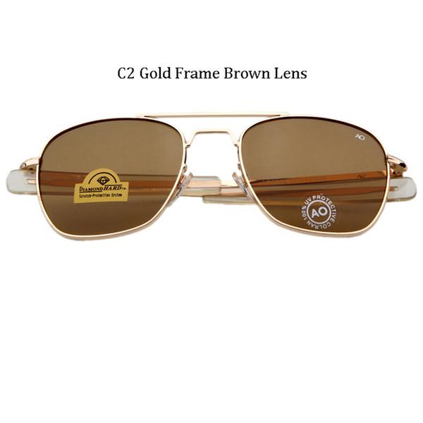 C2 Gold Frame Brown Lens