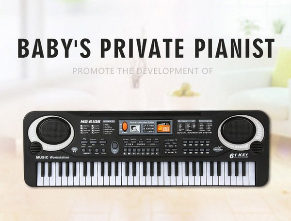 Children's electronic piano with microphone toys multi-function 61 keys electronic keyboard baby novelty musical Instruments toys