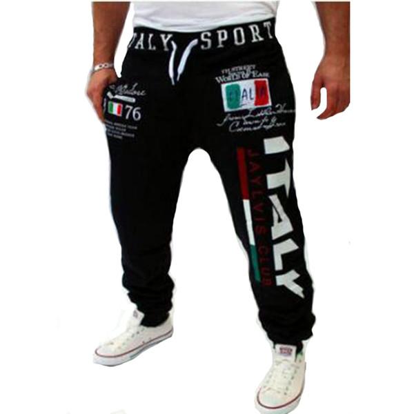 Vente en gros-Design italien Design impression numérique pantalons de survêtement Le pantalon de loisirs de loisirs de mode