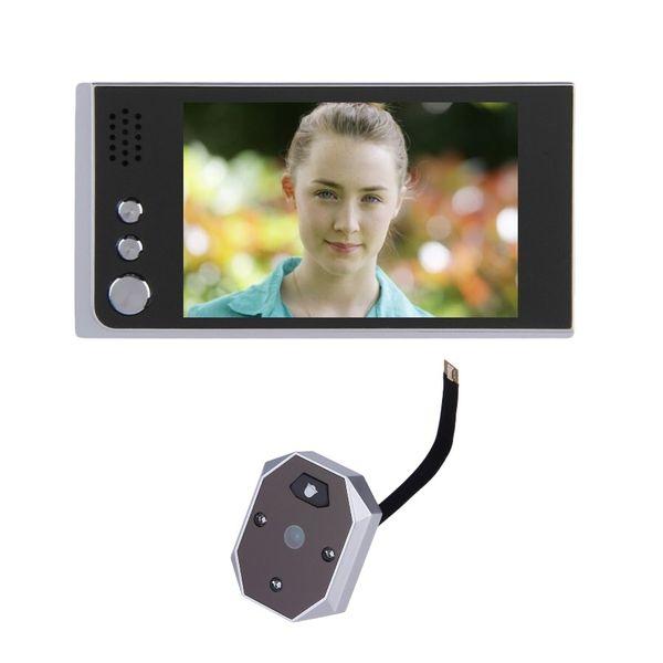Video eye peephole 3.5inch LCD IR Night vision 2.0Megapixels camera Taking+Viewing Photos video eye videoglazok door camera