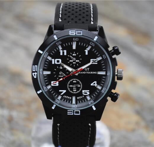 Orologio GT di alta qualità 2016 F1 Uomo orologio sportivo Luxury Brand cinturino in silicone moda uomo al quarzo militare orologio da polso da uomo