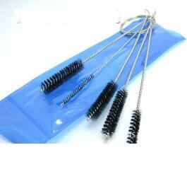 new Mini Smoking cleaning brush cleaning tools 5 sets, glass Hookah / glass bong accessories, color random delivery