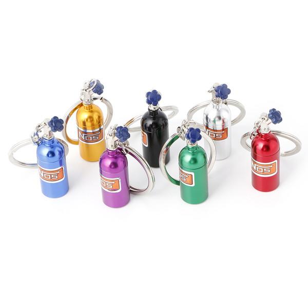 Fashion Creative Metal Car Nitrogen Gas Bottle Key Ring Chain Keyfob Gift