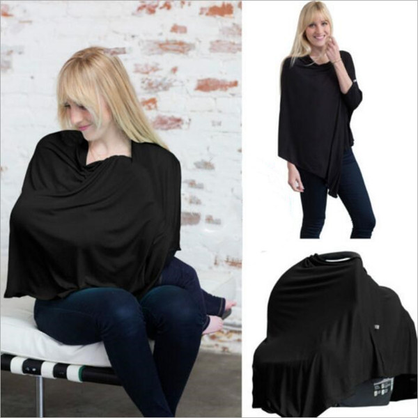 top popular Maternity Nursing Covers Poncho Baby Car Seat Canopy Cover Stroller Cover Scarf Shopping Cart Cover Breastfeed Maternity Top Shawl New B2827 2021
