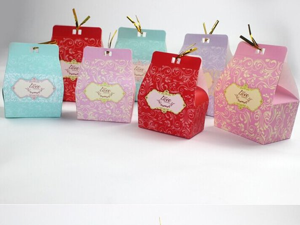 OUR LOVE STORY Wedding Favour Favor Sweet Cake Gift Candy Boxes Bags Anniversary Party, 100PCS/lot