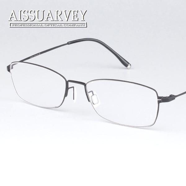 7cadacab41 Wholesale- Vintage classic Full rim pure titanium optical prescription  clear eye glass eyeglasses frame for man and women ultra light