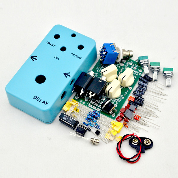 Build your own Delay Face Pedal@DIY Guitar Delay-1 Pedal All Kits With 1590B Free shipping@IN STOCK!!