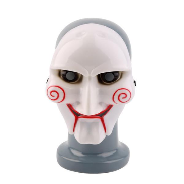 Wholesale 5pcs Saw Mask Halloween Full Mask Head Latex Scary Masquerade Masks Party Masks Free Shipping