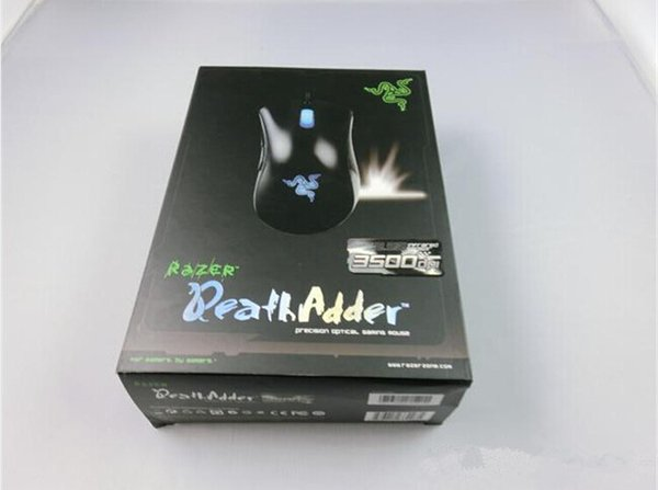top popular Razer Death Adder Mouse High Quality Gaming Mouse 3500DPI Optical Wired Mouse free shipping 2019