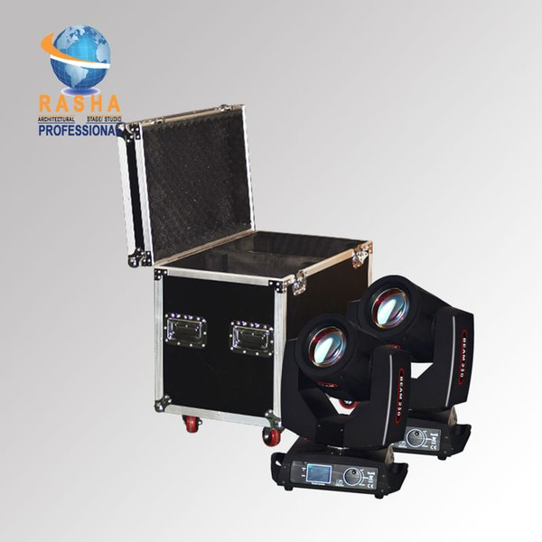 Rasha 2X 7R 230W Sharpy Moving Head Beam Light 20CH Stage Moving Head Light With 2in1 Flight Road Case