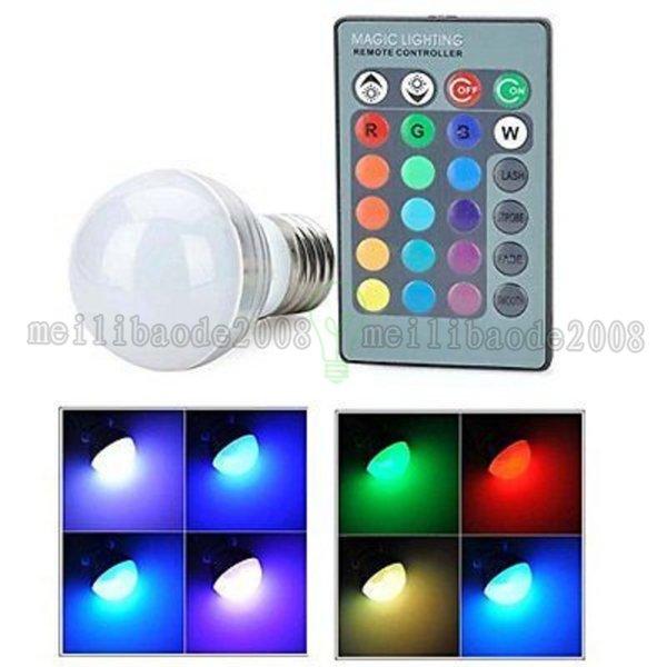 Farbe E27 E14 LED 16, die RGB rgbw Glühlampe-Lampe 85-265V RGB ändert, führte helles Scheinwerfer- + IR-Fernbedienung FREIES VERSCHIFFEN MYY